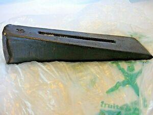 """VTG Iron Wood Splitting Maul Wedge~Log Splitter~~8 1/4"""" Long~2 3/8"""" Wide Blade"""