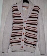 Ben Sherman PLECTRUM Lambswool  Gray Multi Color Men's Cardigan Sweater Size:M