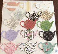 Anna Griffin teapot shape embellishments Set Of 15