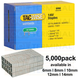 Tacwise Type 140 Series Staples 6 8 10 12 14mm fit Stanley G 4/11/140 Arrow T50