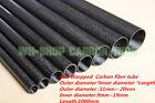 3K Carbon Fiber Rolled Tube/Pipe 11 12 13 14 15 16 17 18 19  20mm x 1000mm -UK