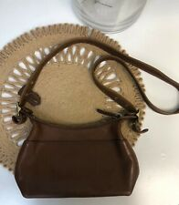 COACH Vintage Leather Legacy Zip Crossbody Purse Chocolate F050-9136