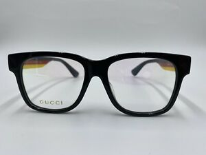 NEW GUCCI GG0342OA 003 Multicolor Frames Optical 53-17-145 AUTHENTIC Italy