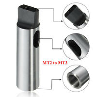 MT2 to MT3 Morse Taper Reducing Reduction Adapter Drill Sleeve for Lathe NEW