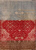 Rugsource Brand ! Modern Abadeh Oriental Hand-Knotted Area Rug Floral Carpet 5x7