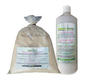 MULTI MITE® 400g Shaker PLUS 1KG Refil Diatomaceous Earth DE Red Mite FEED Grade