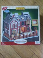 PLYMOUTH CORNERS FISH CANNERY LOBSTER POT LEMAX CHRISTMAS VILLAGE HOUSE