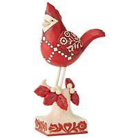 "Jim Shore Heartwood Creek Nordic Noel Red Cardinal Figurine 6"" Ships Globally!"