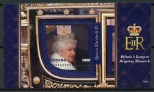 Guyana Royalty Stamps 2015 MNH Queen Elizabeth II Longest Reigning 1v S/S