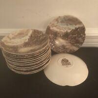 "Vintage Johnson Bros OLDE ENGLISH COUNTRYSIDE BROWN 7"" diameter Saucer"