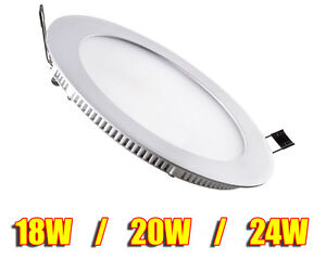 18W - 24W LED Round Recessed Ceiling Flat Panel Down Light Ultra Slim Cool White