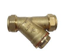 22mm Brass In-Line Y Strainer / Filter