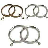 Speedy Product 35mm Poles Apart Flat Lined Metal Rings Pack of 10