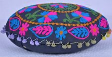 Suzani Embroidered Home Decorative Designer Pillow Boho Indian Cushion Cover
