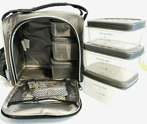 JAXX Fit & Fresh FitPak Insulated Cooler Bag Portioned Meal Prep Lunch Box