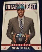 2012 Panini NBA Hoops ANTHONY DAVIS Draft Night Rookie Card RC HORNETS LAKERS
