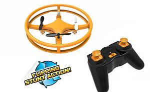Mindscope Sky Lighter Disc Drone Orange LED Light Up Stunt Action Radio Control