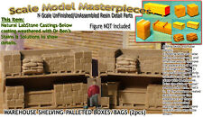 WAREHOUSE SHELVING-BOXES/BAGs (2pcs) Scale Model Masterpieces N Fine Craftsman
