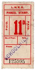 (I.B) London & North Eastern Railway : Parcel Stamp 11d (Aberdeen - Schoolhill)