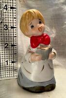 Vintage 1978 JASCO-Merri-Bells-Christmas Caroler-Choir Boy-Bisque Porcelain Bell