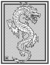 Coloring Page - Dragon # 3 -VAROUG (Hi-Res JPG file will be sent by email)