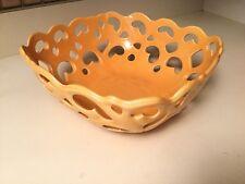 Tabletops Unlimited Lt Orange Hand Pierced Serving Basket Chill n' Heat n' Serve