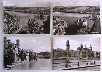 4 x PASSAU Bavaria Bayern ab ~1950/60 Postkarten Ansichtskarten Lot ungelaufen