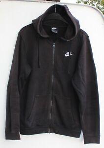 Nike Hoodie Jacke Pullover Kapuze Sweatshirt Jogging Pulli Größe S schwarz