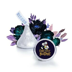 108 The Nightmare Before Christmas Baby Shower Kisses Labels, Jack and Sally