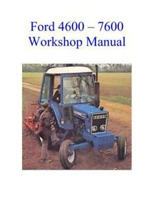 Ford 2600 3600 4100 4600 5600 6600 7600 Tractors Dealers Workshop Manual