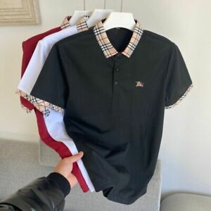 2021 Summer New Fashion POLO Shirt Men Popular Logo fFow Short Sleeve Tshirt
