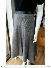 Wool Blend Business Checked A-line Skirts for Women