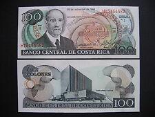 Costa Rica 100 colones 28.9.1993 (p261a) UNC