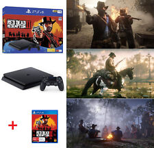 PlayStation 4 Ps4 Slim 1tb Red Dead Redemption 2 Console Bundle