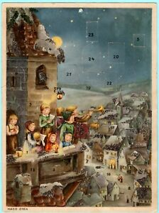 Vintage HACO 0164 Advent Christmas Calendar Germany US Zone German Lore Hummel