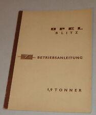 Manual de instrucciones de Opel Blitz 1,9 mil toneladas stand 04/1961