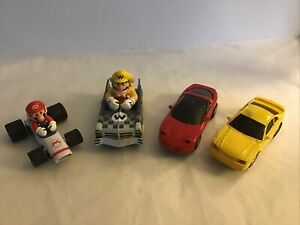 Lot of 4 Carrera Go!, Unbranded, 1:43 Scale Slot Cars, Mario, Luigi