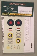 Mini Print Decal 1:72 Vickers Wellington Mk.I C WWII 311 Sq. RAF 72502