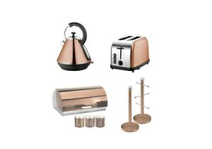 SQ Pro.Toaster, Kettle,Bread bin & Mug Tree Set or single piece Copper Colour