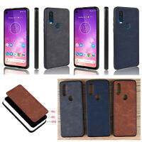 PU+PC+TPU Shockproof Cover Phone Protective Shell for Motorola Moto One Vision