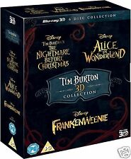 Tim Burton 3D Movie Collection (Blu-ray 3D + 2D)~~~~~5 3D FILMS~~~~~NEW & SEALED