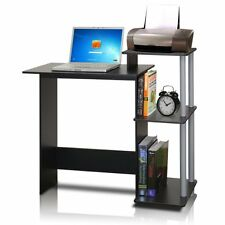 Computer Desk For Small Spaces Home Office Furniture Laptop Black & Grey