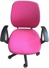 5 Computer Chair Cover Office Seat Rotating Slipcover Removable Armchair Pink
