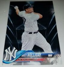 2018 TOPPS SERIES 2 #435 MATT HOLLIDAY BLACK PARALLEL CARD #D 14/67