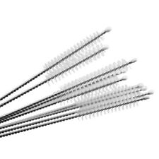 10x Stainless Steel Cleaning Drinking Pipe Brush Straw Cleaner Kitchen Tool Well