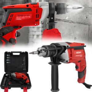 Heavy Duty 850W Electric Corded Impact Hammer Drill With Drill Bit Set Tool Kit