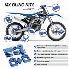 MX Bling Kits Parts for Yamaha YZ450F WR250F WR450F 2005-2015 Blue Billet CNC
