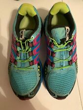 Salomon XR Mission 1 Womens Multicolor Trail Running Shoes Size 7
