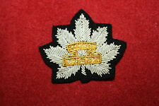 WW2 VIII 8TH RECCE CANADA CANADIAN OFFICERS BERET BADGE BULLION WIRE COPY