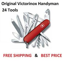 🌟🌟🌟 1.3773 VICTORINOX SWISS ARMY POCKET KNIFE HANDYMAN RED 1.3773 53722 35685